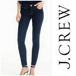 Dark wash Toothpick Ankle Jeans by J. Crew, S 27